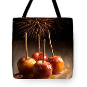 Toffee Apples Group Tote Bag by Amanda Elwell
