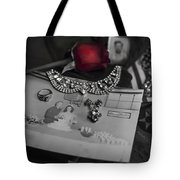 Together Again Black And White Tote Bag