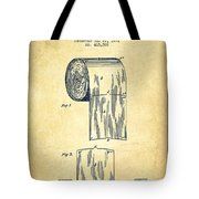 Toilet Paper Roll Patent Drawing From 1891 - Vintage Tote Bag