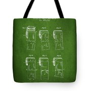 Toilet Paper Roll Patent From 1891 - Green Tote Bag