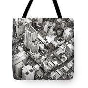 Tokyo City Black And White Tote Bag