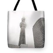 Tokyo Skytree In Clouds Tote Bag