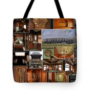 Toledo Peoria Western Pullman Rr Car Collage Tote Bag