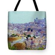 Toledo Spain In Blue Tote Bag