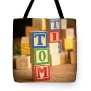 Tom - Alphabet Blocks Tote Bag