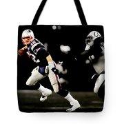 Tom Brady Scramble Tote Bag