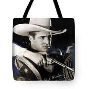 Tom Mix Portrait Melbourne Spurr Hollywood California C.1925-2013 Tote Bag