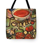 Tomato Soup Recipe Tote Bag by Jen Norton
