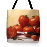 Tomatoes And A Knife Tote Bag