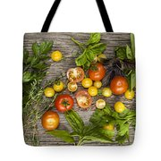 Tomatoes And Herbs Tote Bag by Elena Elisseeva