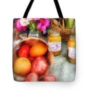 Tomatoes And Peaches Tote Bag