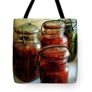 Tomatoes And String Beans In Canning Jars Tote Bag