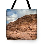 Tombs Of Petra Tote Bag