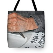 Tombstone Engraver At Work Tote Bag