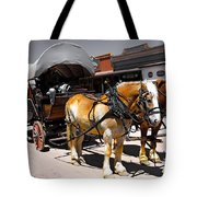 Tombstone Wagon Tote Bag