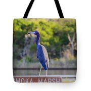 Tomoka Marsh Little Blue Heron Tote Bag