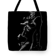 Tone-line Form Tote Bag