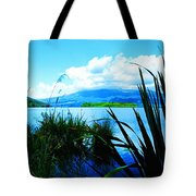 Tongariro National Park Oil On Canvas Tote Bag