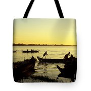 Tonle Sap Sunrise 05 Tote Bag