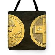 Tonto Apache Tribe Code Talkers Bronze Medal Art Tote Bag