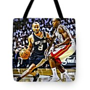 Tony Parker Painting Tote Bag