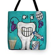 Tooth Pick Dental Art By Anthony Falbo Tote Bag
