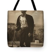 Top Hat And Tails Monochrome Tote Bag