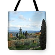 Top Of A Hill Town Tote Bag