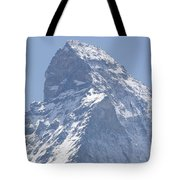 Top Of A Snow-capped Mountain Tote Bag