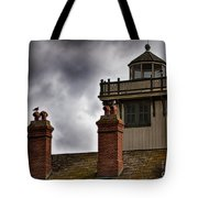 Top Of Point Fermin Lighthouse Tote Bag