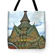 Top Of Temple In Wat Po In Bangkok-thailand Tote Bag