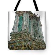 Top Of Temple Of The Dawn-wat Arun In Bangkok-thailand Tote Bag