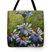 Top Of The Bunch Daisies By Prankearts Tote Bag