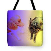 To See It All On Top Of The Dogs Tote Bag