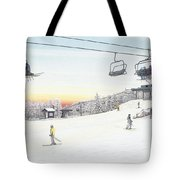 Top Of The Mountain At Seven Springs Tote Bag