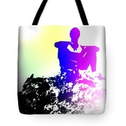 Sitting At The Top Of The Mountain Watching You Climb  Tote Bag