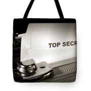 Top Secret Document In Armored Briefcase Tote Bag