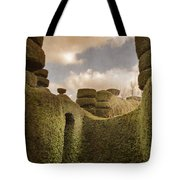 Topiary Maze In A Formal Garden Tote Bag