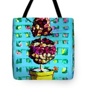 Topiary Of Dried Roses Tote Bag