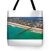 Topsail Island Aerial Panels Tote Bag
