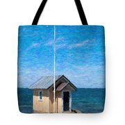 Torekov Beach Hut Painting Tote Bag