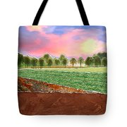 Torn Paper Fields Of Green And Brown Tote Bag