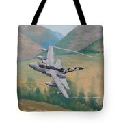 Tornado Gr4 - Shiny Two Flying Low Tote Bag
