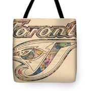 Toronto Blue Jays Logo Art Tote Bag