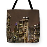 Toronto Condos On A Cold Winter Night Tote Bag