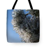 Toronto Ice Storm 2013 - Pine Needle Flowers In The Sky Tote Bag