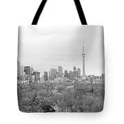 Toronto In Black And White Tote Bag