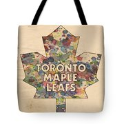 Toronto Maple Leafs Hockey Poster Tote Bag