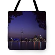 Toronto Skyline At Night Tote Bag