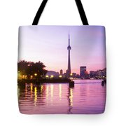 Toronto Skyline At Sunset, Toronto Tote Bag